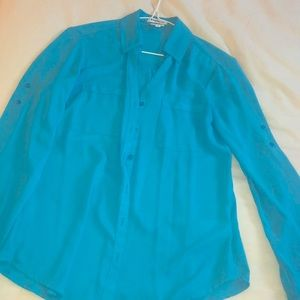 Chiffon light blue top